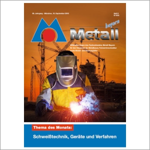 Cover Metall Bayern Journal 2016-09
