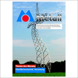Cover Metall Bayern Journal 2015-08